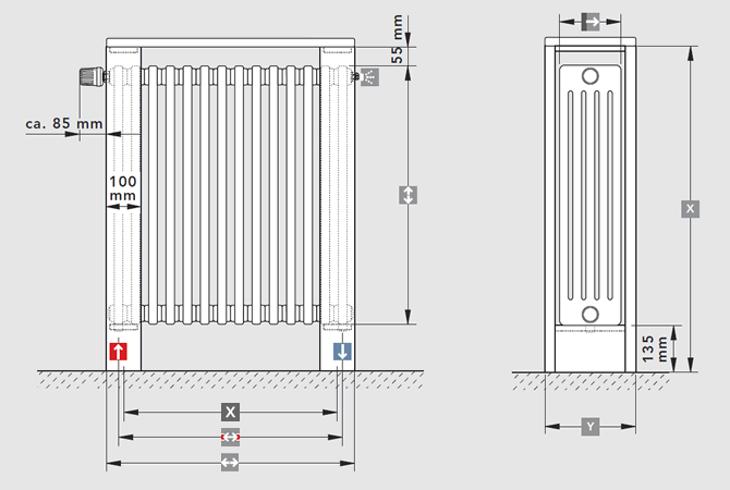 LASERLINE architecture bar dimensions