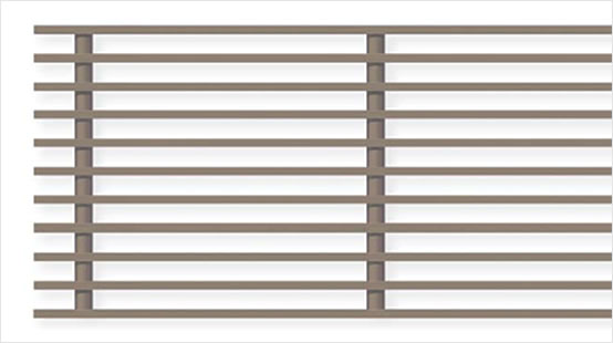Rigid linear grille