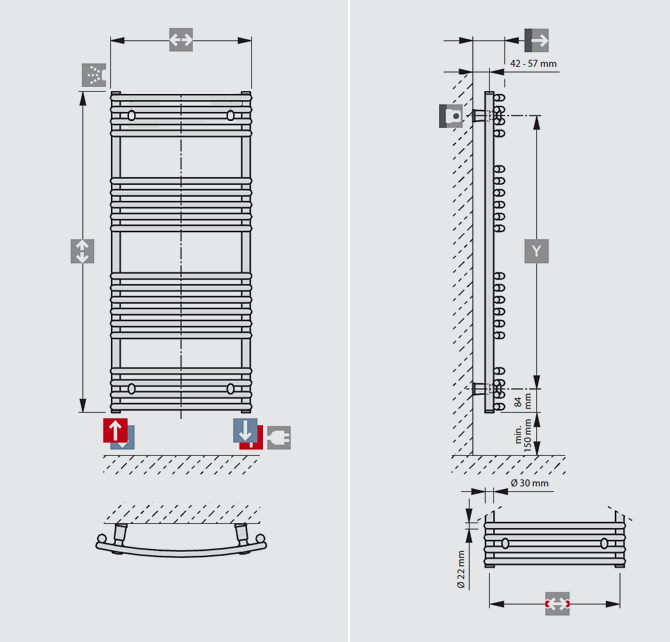 STANDARD CURVED connection examples