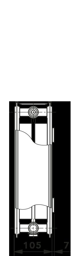 Радиатор с нижним подключением ТИП 22 KV