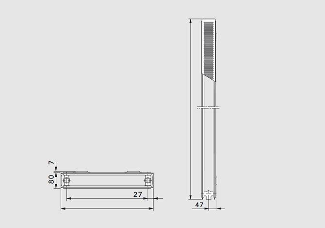 Вертикальный радиатор ТИП 20 K